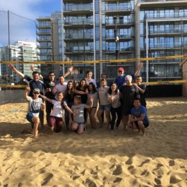 Our team kicked off summer by playing volleyball